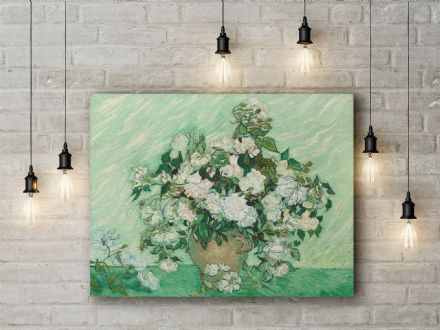 Vincent Van Gogh: Roses. Fine Art Canvas.